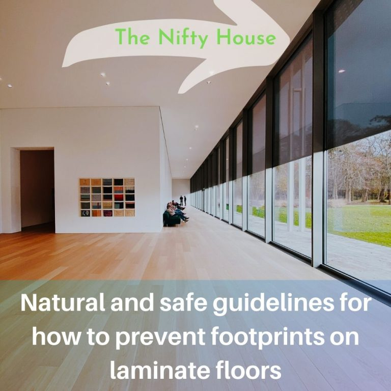 How to prevent footprints on laminate floors