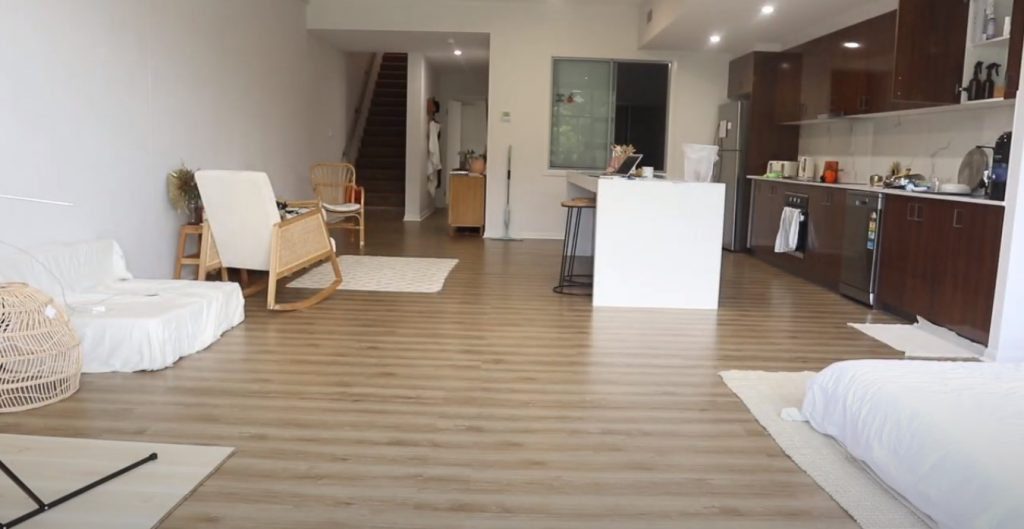 How to clean film off laminate flooring