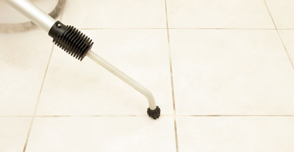 How to steam clean grout and tile