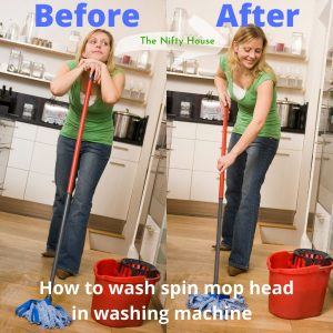 How to wash spin mop head in washing machine