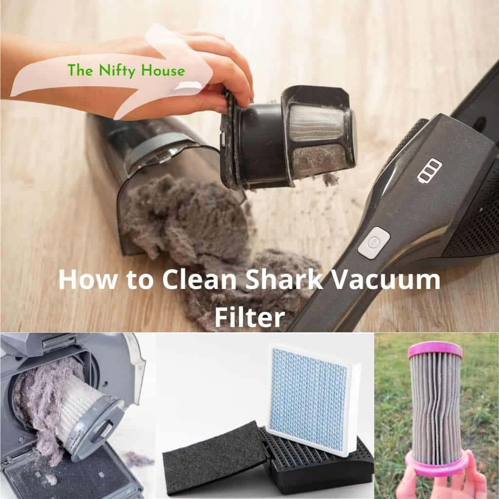 how to clean shark vacuum filter